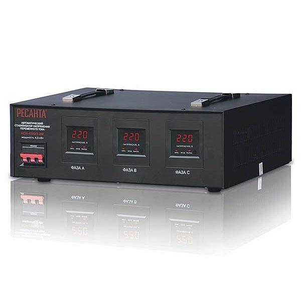 Стабилизатор трехфазный Ресанта АСН-4500/3-ЭМ