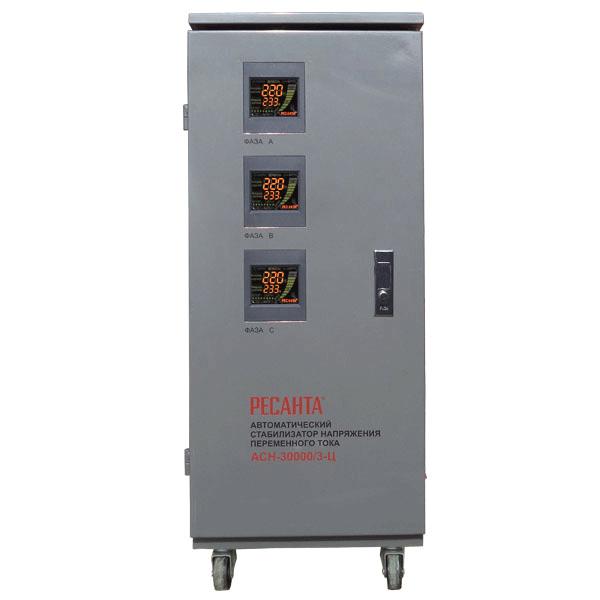 Стабилизатор трехфазный Ресанта АСН-30 000/3-Ц