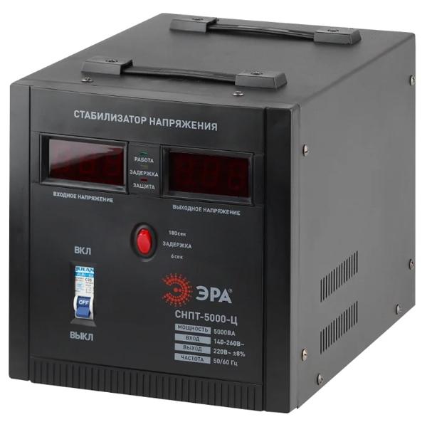 Стабилизатор напряжения ЭРА СНПТ-5000-Ц