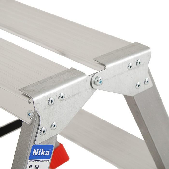 Лестница-стремянка Nika ДЛС2,  двухсторонняя, 2 ступени