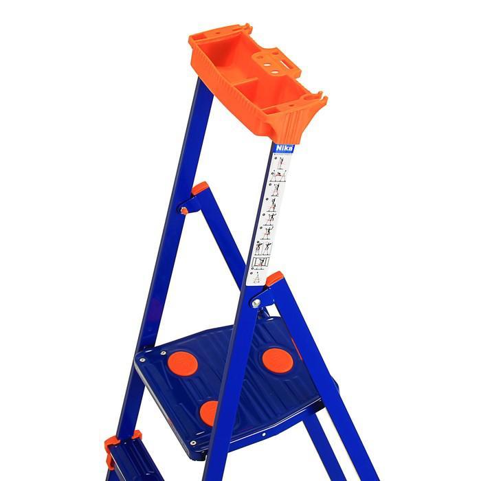 Стремянка Nika СМ6+, для рыхлых поверхностей, высота до рабочей площадки 1300 мм, 6 ступеней