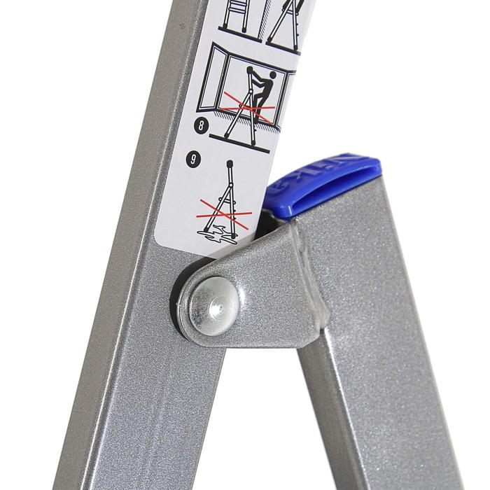 Стремянка Nika СМ7, металлическая, высота до рабочей площадки 1510 мм, 7 ступеней