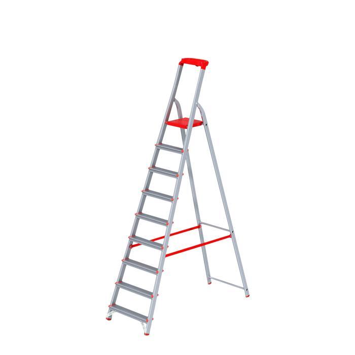 Стремянка Halta PRO, 9 ступеней, 80мм, с лотком