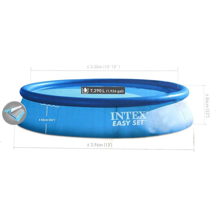 Бассейн надувной Easy Set, 396х84 см 28143 INTEX