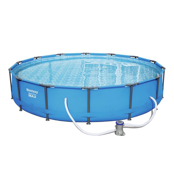 Бассейн каркасный Steel Pro Мах 427х84 см (в комплекте: насос с фильтром 220V) (56595)