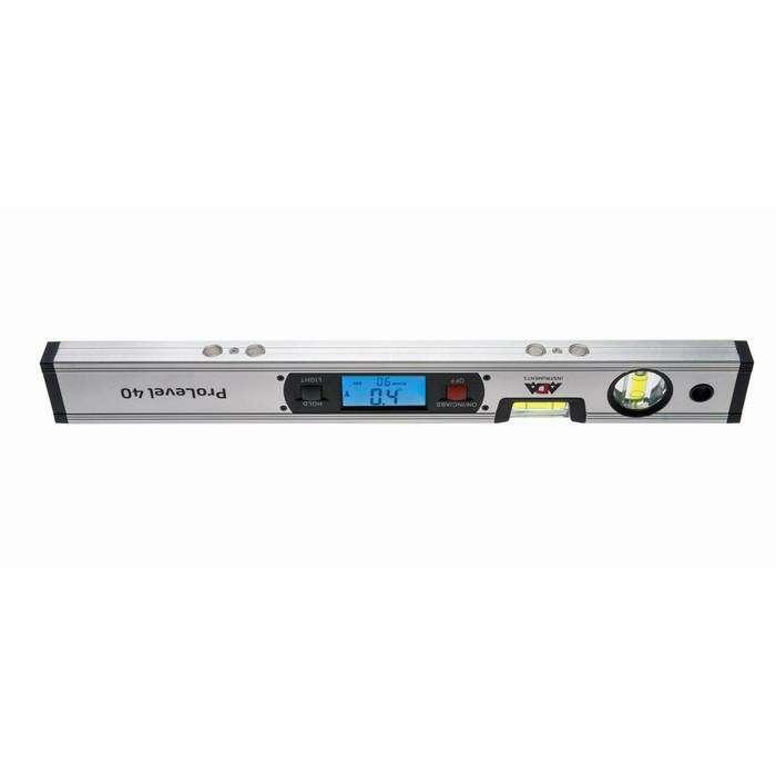 Уровень цифровой ADA ProLevel 40 А00381, 4х90°, точность наклона 0.2°, разрешение 0.1°