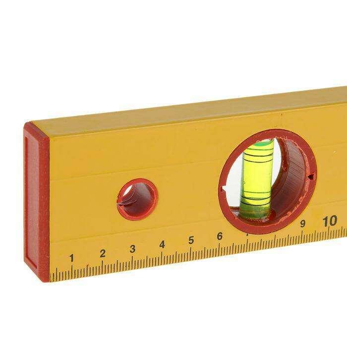 """Уровень алюминиевый   Remocolor, """"Yellow"""", 3 ампулы, 40 см"""