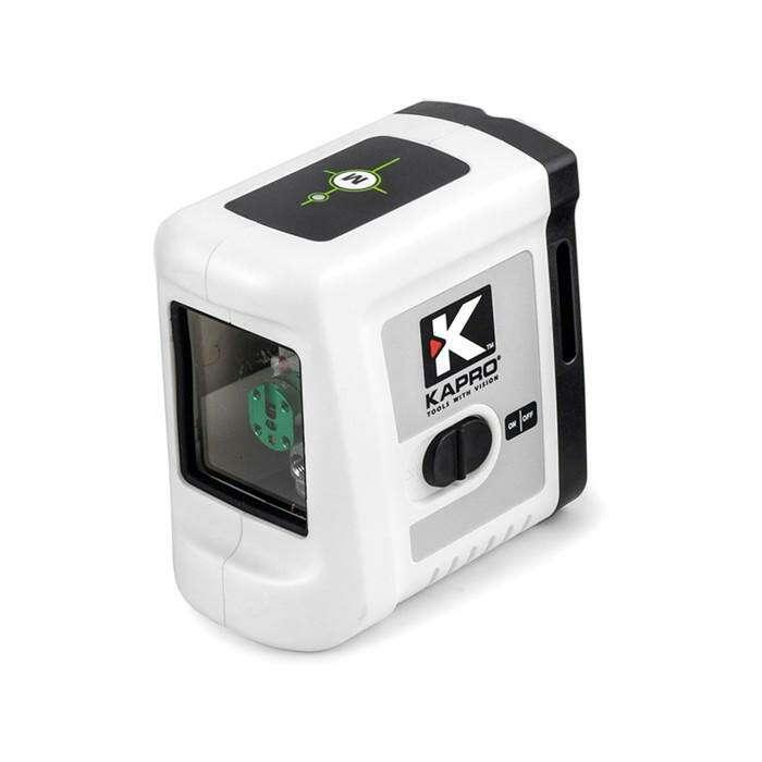 """Лазерный уровень KAPRO 862G, зеленый, 2 луча, 20 м, ± 3 °, 1/4"""", V-образный паз, магниты"""