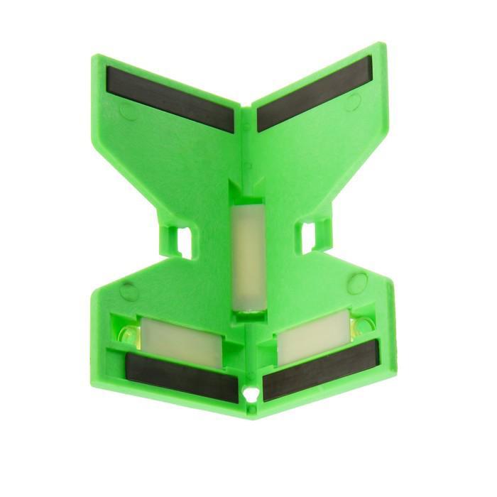 Угломер-уровень TUNDRA basic, 3 глазка, магнит, ABS-пластик, резинка, фиксированный
