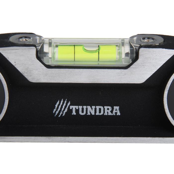 Уровень строительный TUNDRA premium, алюминиевый, трапециевидный, 3 глазка, 40 см