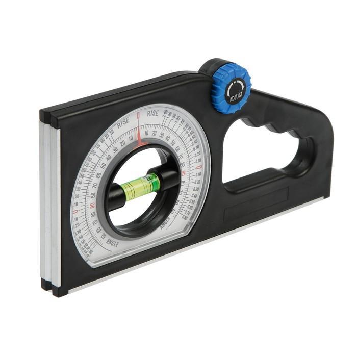 """Угломер-уровень, TUNDRA comfort, 1 глазок (на 230""""), магнит, фрезерованный, ABS-пластик"""