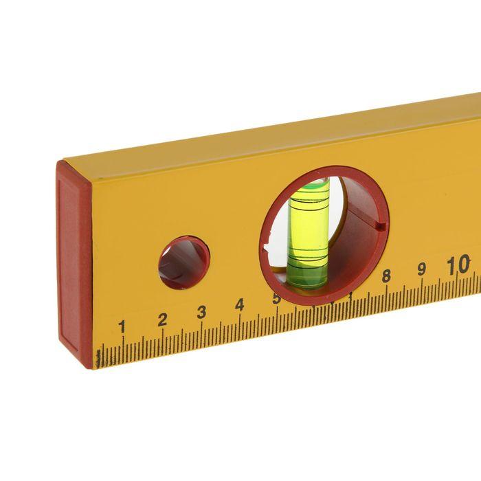 """Уровень алюминиевый  Hobbi, """"Yellow"""", 3 ампулы, 120 см"""