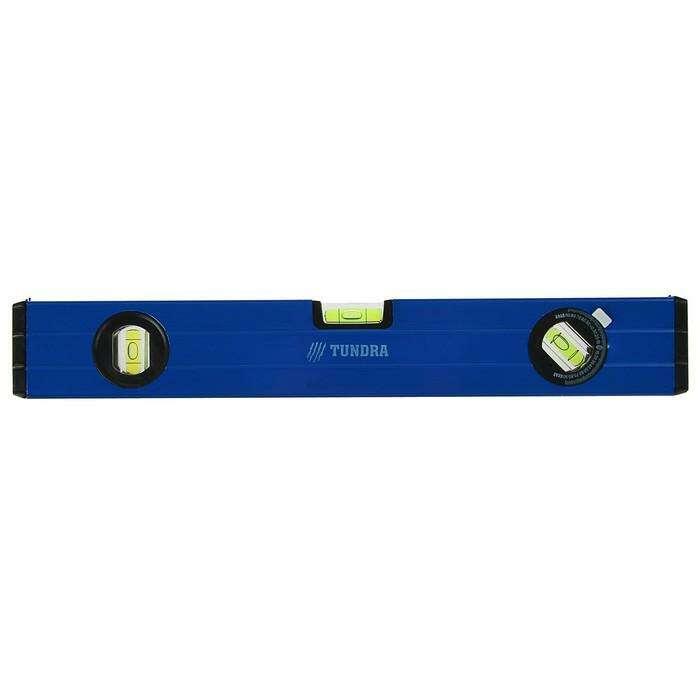 Уровень алюминиевый TUNDRA comfort, 3 глазка (1 поворотный глазок), 40 см