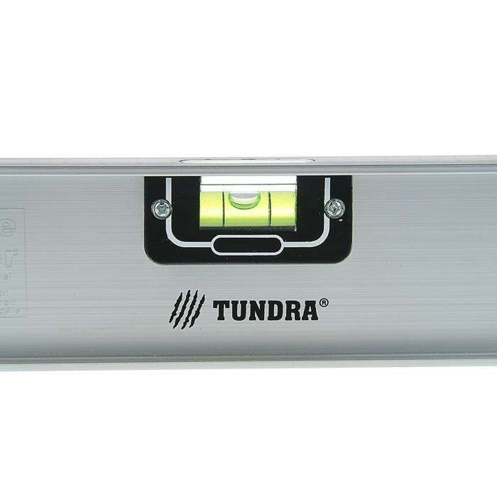 """Уровень TUNDRA """"Рельс"""", 400 мм, алюминиевый, 3 глазка (1 поворотный)"""