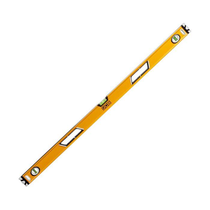 """Уровень """"JCB"""" коробчатый, магнитный, фрезерованный, 3 ампулы, 0.5мм/м, 120 см"""