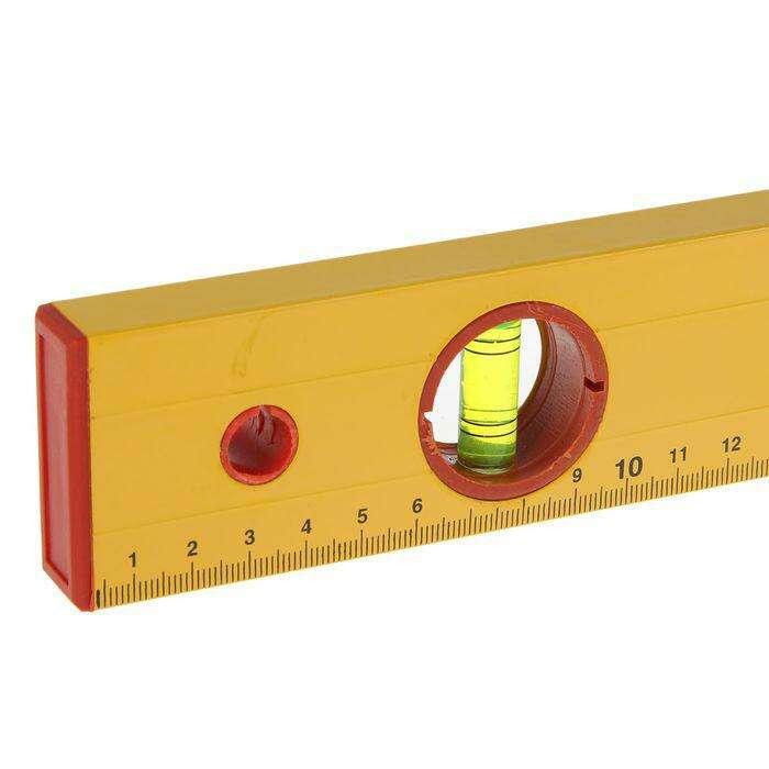 """Уровень алюминиевый Remocolor, """"Yellow"""", 3 ампулы, 80 см"""