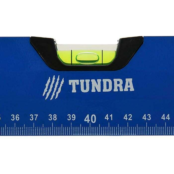 Уровень алюминиевый с магнитом TUNDRA comfort, 3 глазка, 80 см