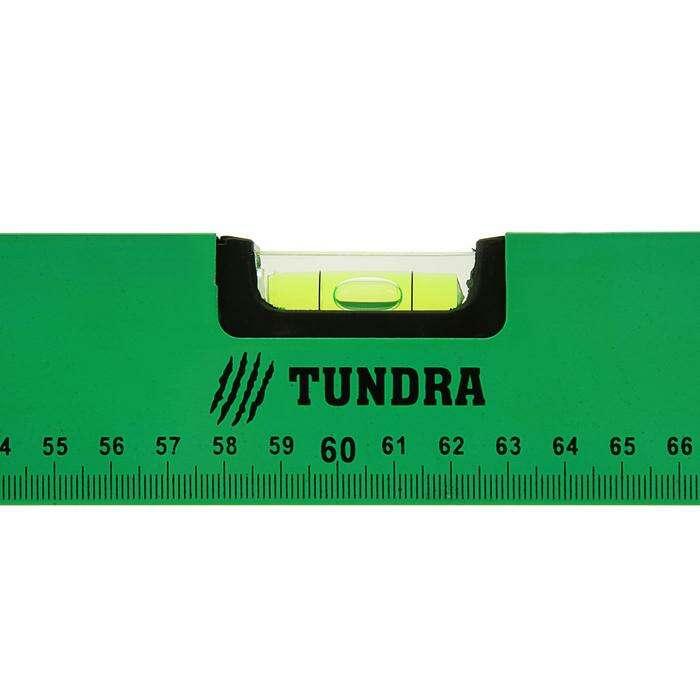 Уровень алюминиевый с магнитом, TUNDRA basic, 3 глазка, 120 см