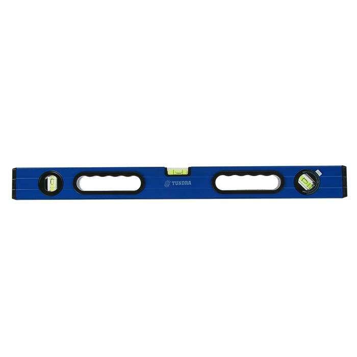 Уровень алюминиевый TUNDRA comfort, 3 глазка (повортный глазок), 2 ручки, 60 см