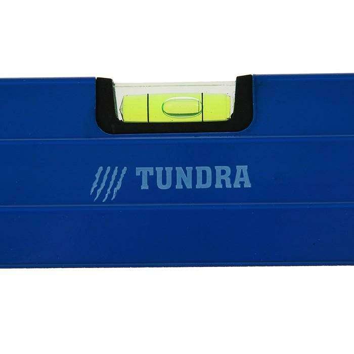 Уровень алюминиевый TUNDRA comfort, 3 глазка (1 поворотный глазок), 100 см
