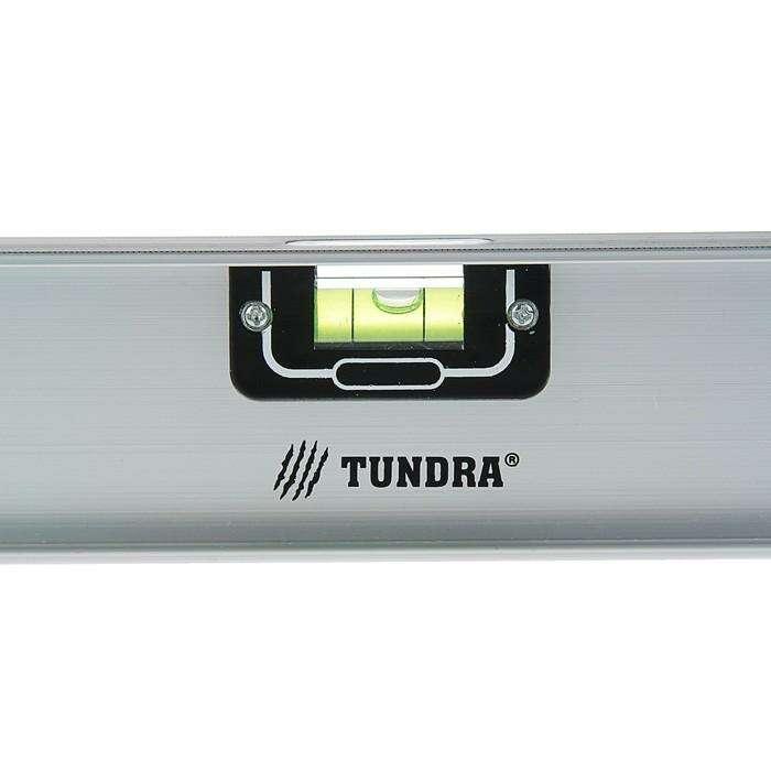 """Уровень TUNDRA """"Рельс"""", 1200 мм, алюминиевый, 3 глазка (1 поворотный)"""