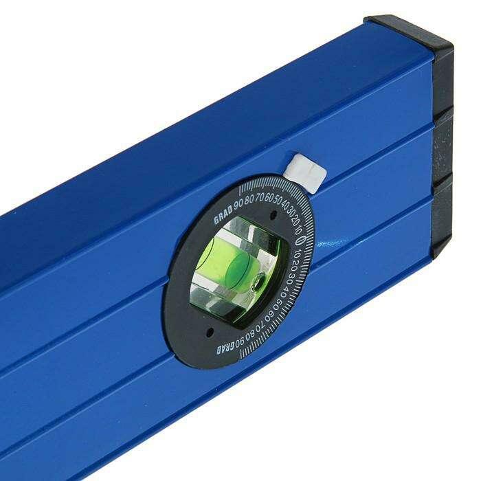 Уровень алюминиевый TUNDRA comfort, 3 глазка (повортный глазок), 2 ручки, 120 см