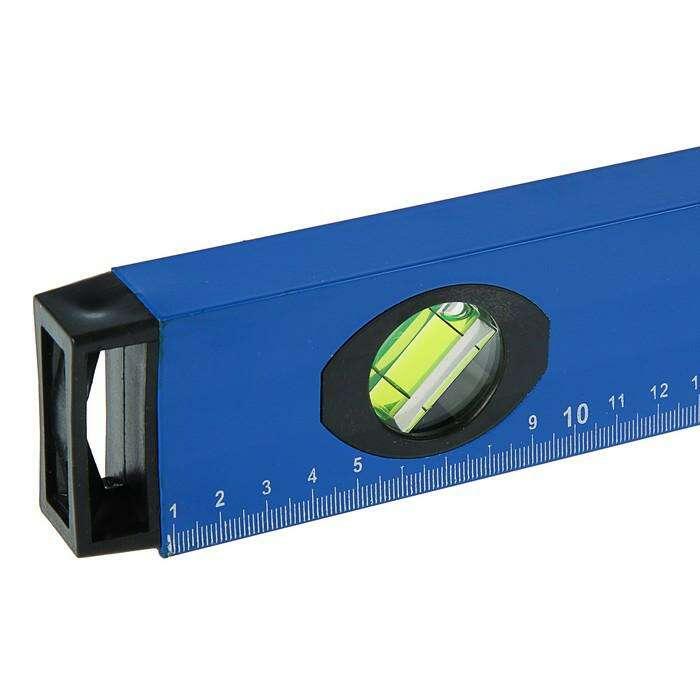 Уровень алюминиевый с магнитом, TUNDRA comfort, 3 глазка, 2 ручки, 120 см