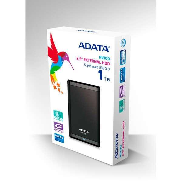 Внешний жесткий диск Adata HV100 (AHV100-1TU3-CBK)