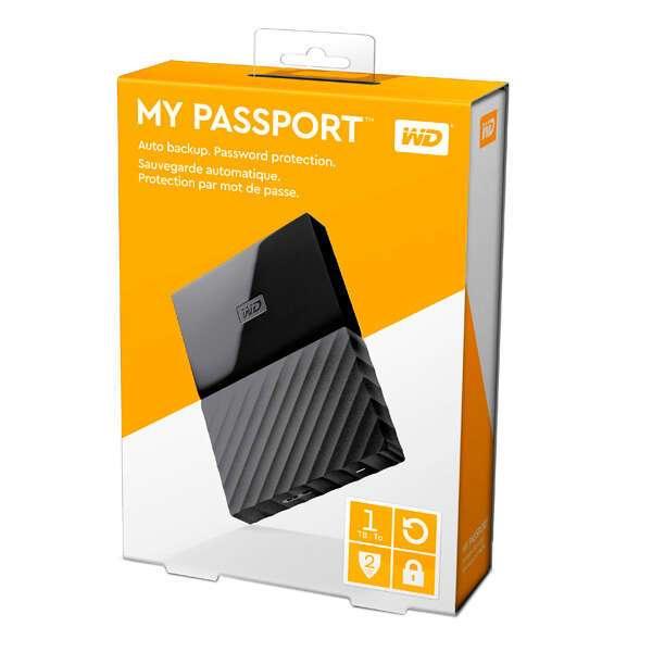 Внешний жесткий диск Western Digital My Passport WDBBEX0010BBK-EEUE, 1 Tb