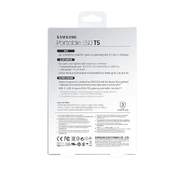 Внешний SSD Samsung 1000 Гб (MU-PA1T0B/WW)