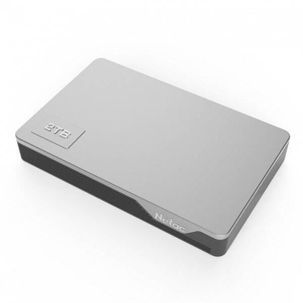 Внешний жесткий диск Netac K338-2T серый