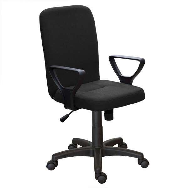 Офисное кресло Zeta Квадро Н гобелен/кожзам цвет черный