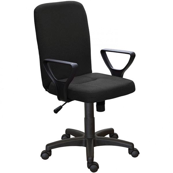 Офисное кресло Zeta Квадро Н кожзам цвет черный