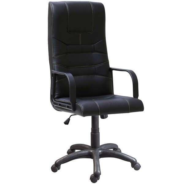 Представительское кресло Zeta Мерген эко-кожа цвет черный