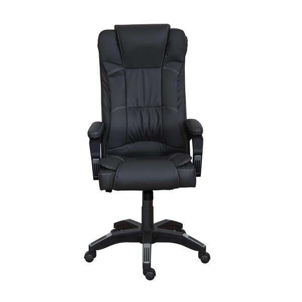 Представительское кресло Zeta Мажор кожзам цвет черный