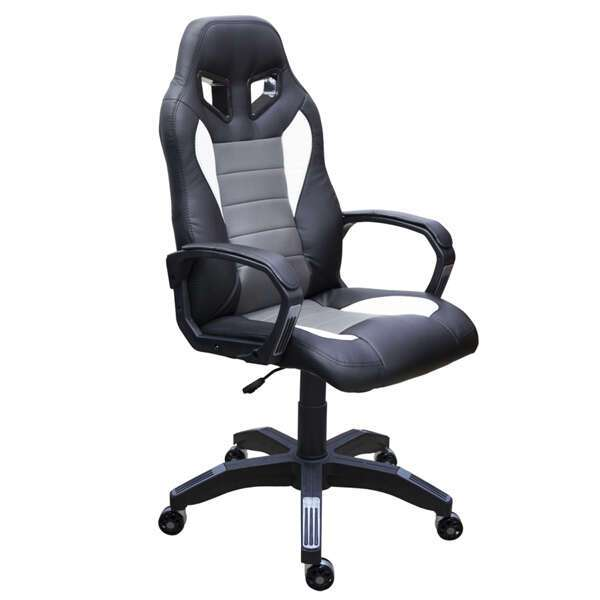 Геймерское кресло Zeta Эдвард черно-серое