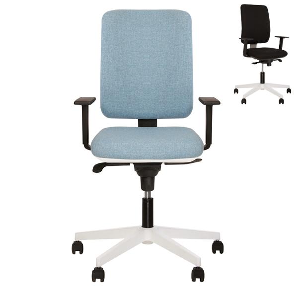 Кресло для персонала Nowy Styl Smart R White-Grey ES PL71 LS-06