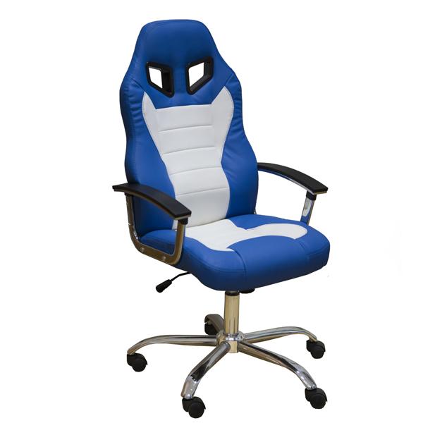 Геймерское кресло Zeta Эдвард сине-белое