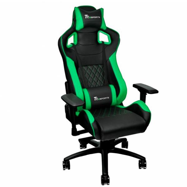 Игровое компьютерное кресло Thermaltake GTF 100 (Black/Green)