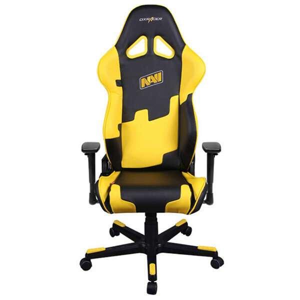 Кресло игровое DX Racer OH/RE21/NY, Чёрно-жёлтый