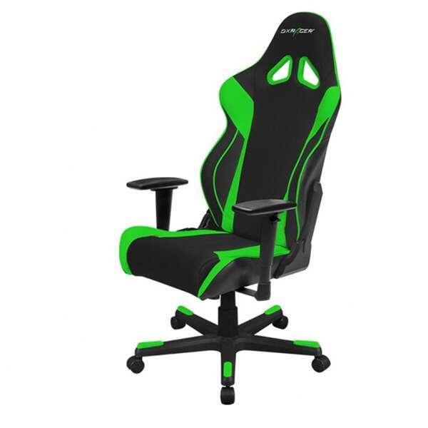 Кресло игровое DX Racer OH/RW106/NE, Черный-зеленый
