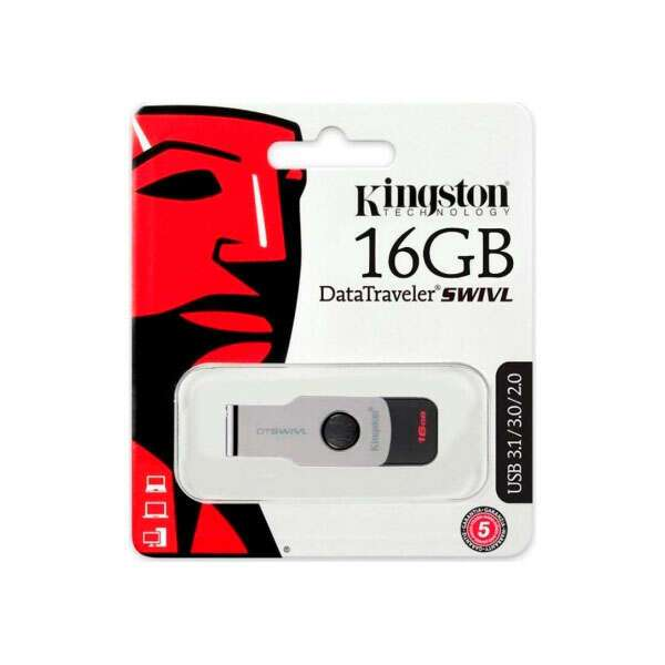 USB накопитель Kingston DataTraveler Swivl 16Gb (DTSWIVL/16GB) USB 3.0