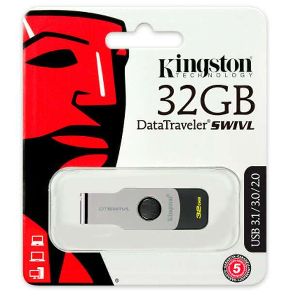 USB накопитель Kingston DataTraveler Swivl 32Gb (DTSWIVL/32GB)