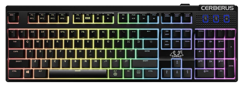 Игровая проводная клавиатура Asus Cerberus Mech RGB/BRN