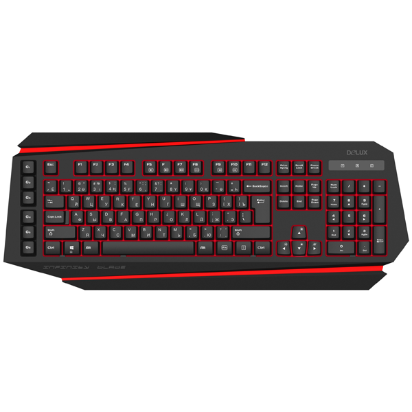 Проводная клавиатура Delux DLK-9500UB