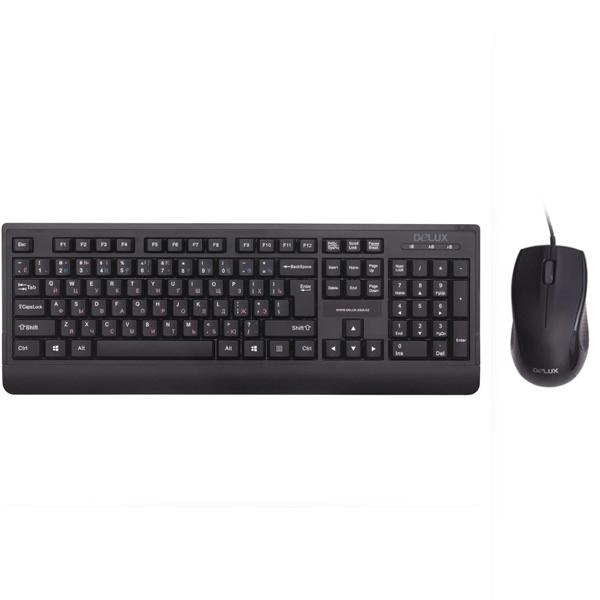 Комплект Клавиатура + Мышь Delux D-6075OUB