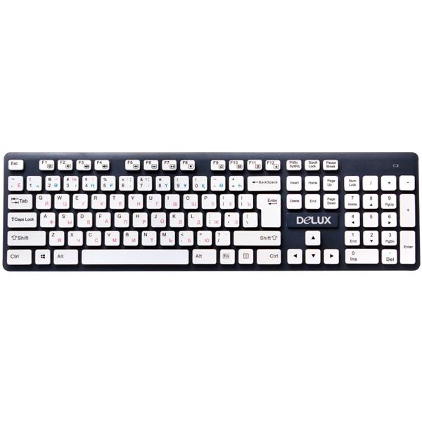 Беспроводная клавиатура Delux DLK-150GW
