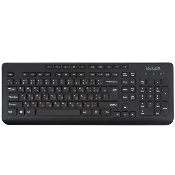 Проводная клавиатура Delux DLK-02UB