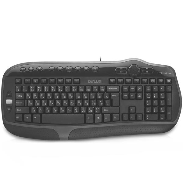 Проводная клавиатура Delux DLK-9050UB