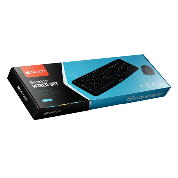 Комплект клавиатура + мышь Canyon CNE-CSET1-RU